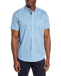 Cutter & Buck Strive Classic Fit Stripe Short Sleeve Sport Shirt