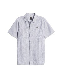 Vans Topsail Classic Fit Stripe Short Sleeve Button Up Shirt