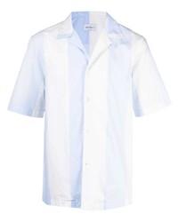 Salvatore Ferragamo Vertical Stripe Short Sleeve Shirt