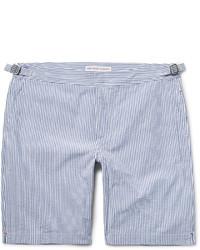 Orlebar Brown Dane Striped Cotton Seersucker Shorts