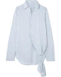 Loewe Asymmetric Striped Silk Shirt