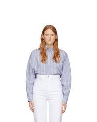 Isabel Marant Blue Silk Macao Shirt