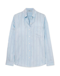 Prada Striped Silk Satin Shirt