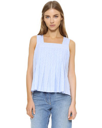 Light Blue Vertical Striped Tank