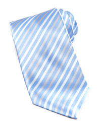 Stefano Ricci Striped Silk Tie Light Blue