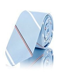 Thom Browne Striped Necktie Light Blue