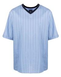 Giorgio Armani V Neck Striped T Shirt