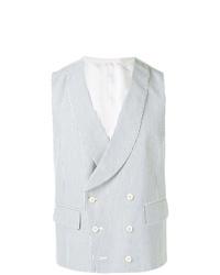 Light Blue Vertical Striped Waistcoat