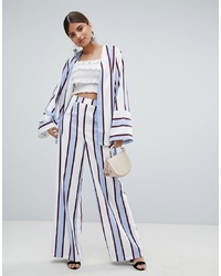 Missguided Striped Wide Leg Trouser