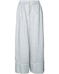 Sacai Wide Fit Pinstripe Trousers