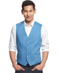 INC International Concepts Jake Linen Blend Vest