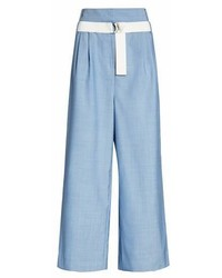 Belted wide leg crop pants medium 6991659