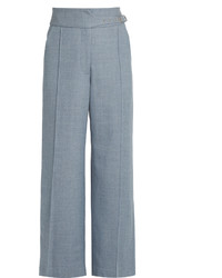 Rachel Comey Harlan High Rise Wide Leg Wool Twill Trousers