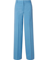 Piazza wool blend wide leg pants light blue medium 6991647