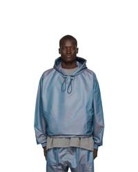 Fear Of God Blue Nylon Iridescent Oversized Jacket