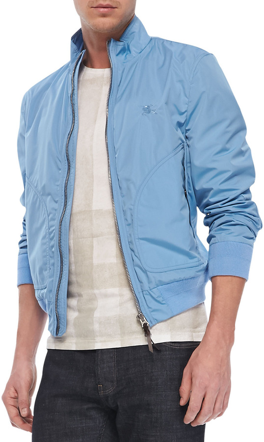 Burberry Brit Lightweight Blouson Jacket Light Blue | Where to buy