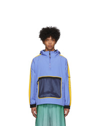 Kenzo Purple Colorblock Windbreaker Jacket