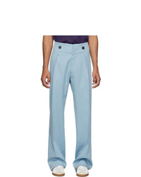 Lanvin Blue Wool High Waisted Trousers