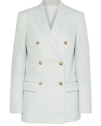 Light Blue Wool Double Breasted Blazer