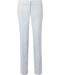 Stella McCartney Anna Pleated Wool Piqu Straight Leg Pants