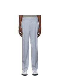 3.1 Phillip Lim Blue Wool Full Leg Trousers