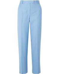 The Row Lada Grain De Poudre Wool Straight Leg Pants