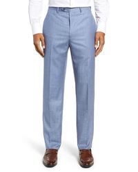 Santorelli Sharkskin Wool Trousers