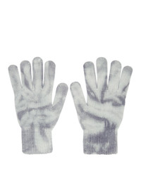 John Elliott Blue Cashmere Tie Dye Gloves