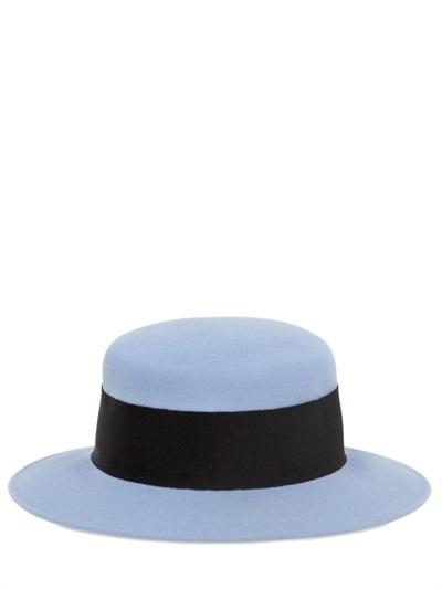 ... Blue Wool Hats Alex Wool Felt Boater Hat ... 3c6f7bb2955c