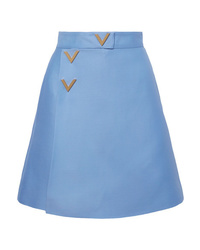 Light Blue Wool Mini Skirt