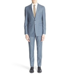 Burberry London Millbank Trim Fit Solid Wool Suit
