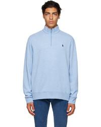 Polo Ralph Lauren Blue Logo Quarter Zip Sweater