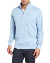 9832ee2612 Peter Millar Crown Comfort Jersey Quarter Zip Pullover