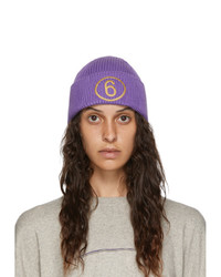 MM6 MAISON MARGIELA Purple Logo Beanie