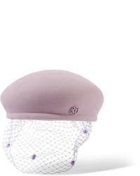Maison Michel Bonnie Rabbit Felt Beret Lilac