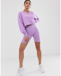 ASOS DESIGN Co Ord Legging Shorts In Lilac