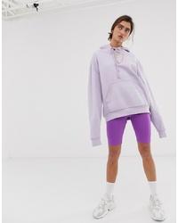 Weekday Legging Shorts In Neon Purple