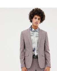 Noak Skinny Suit Jacket In Dusty Pink Marl