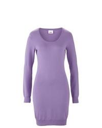 bpc bonprix collection Scoop Neck Jumper Dress In Lilac Size 16