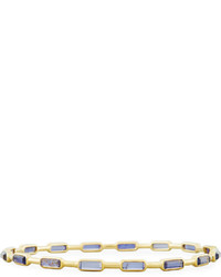 Ippolita Rock Candy Gelato 18k 16 Stone Iolite Bangle