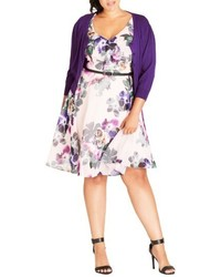 City Chic Plus Size Cute Button Cardigan