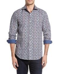 Light Violet Chambray Long Sleeve Shirt