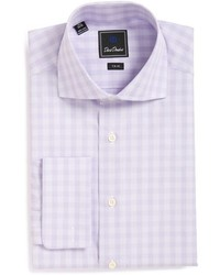 Light Violet Check Dress Shirt