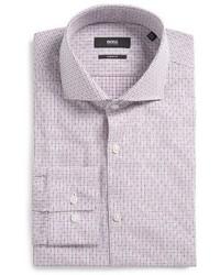 BOSS Mark Slim Fit Check Dress Shirt