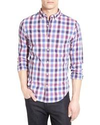 Light Violet Check Long Sleeve Shirt