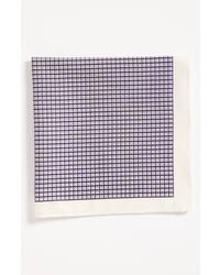 Light Violet Check Pocket Square