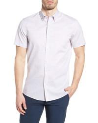 Nordstrom Men's Shop Trim Fit Plaid Short Sleeve Button Up Shirt