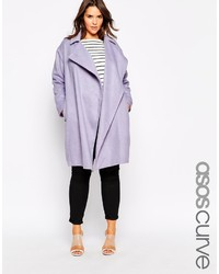 Asos Curve Cocoon Duster Coat With Waterfall