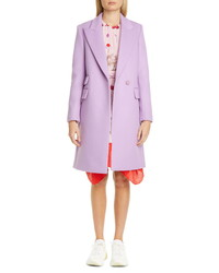 Stella McCartney Double Face Wool Reefer Coat