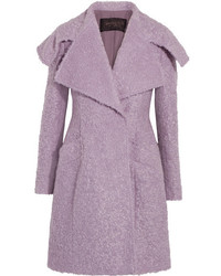 Mohair blend boucl coat lilac medium 5173216